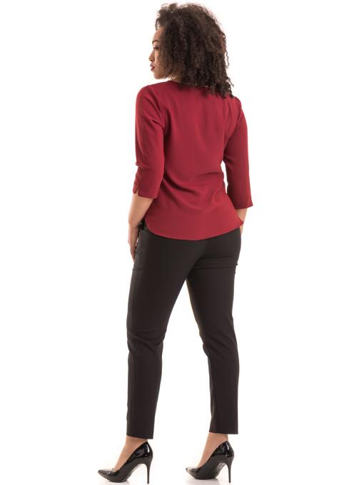 Елегантна дамска блуза JOVENNA с V-образно деколте 22875- цвят бордо E
