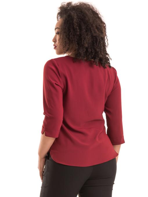 бордоЕлегантна дамска блуза JOVENNA с V-образно деколте 22875- цвят бордо B