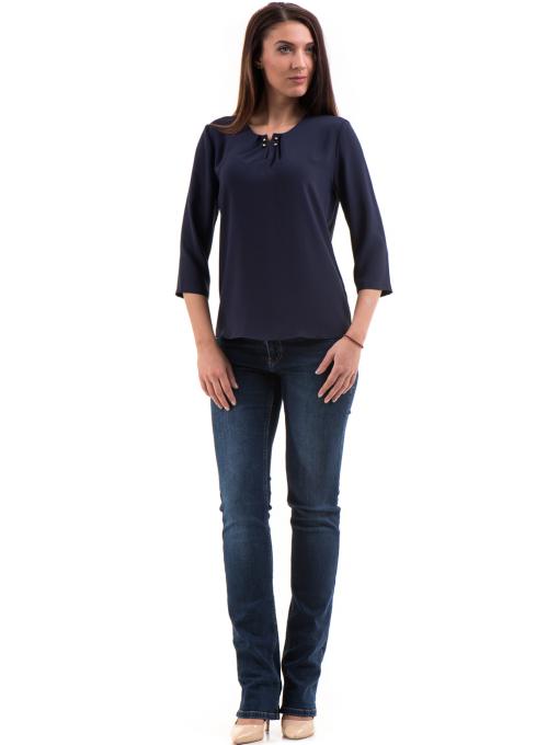 Елегантна дамска блуза JOVENNA 22899 - цвят тъмно син C