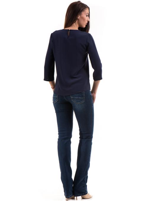 Елегантна дамска блуза JOVENNA 22899 - цвят тъмно син E