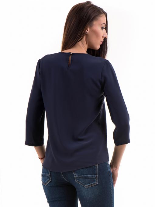 Елегантна дамска блуза JOVENNA 22899 - цвят тъмно син B