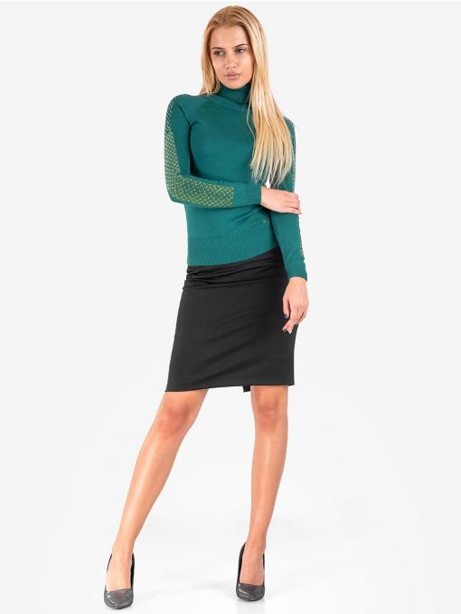 Дамска зелена поло блуза 10815 INDIGO Fashion