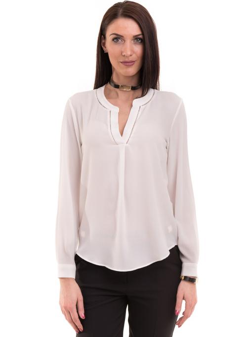 Дамска блуза KOTON с V-образно деколте 62885 - бяла