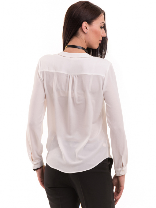 Дамска блуза KOTON с V-образно деколте 62885 - бяла B