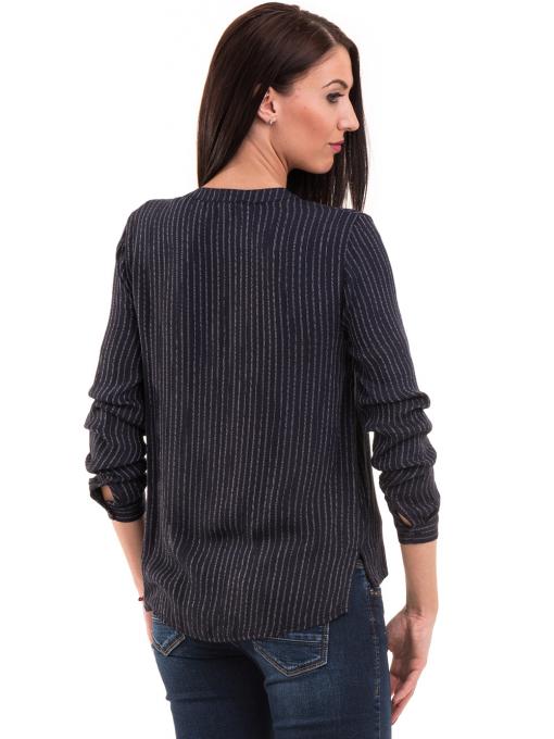 Дамска блуза KOTON с V-образно деколте 68304 - тъмно синя B