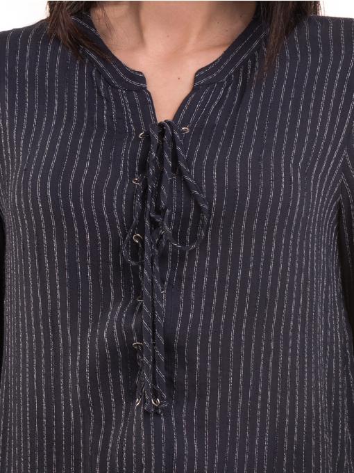 Дамска блуза KOTON с V-образно деколте 68304 - тъмно синя D