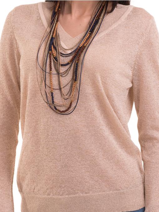 Дамска блуза KOTON 93864 - светло бежова D