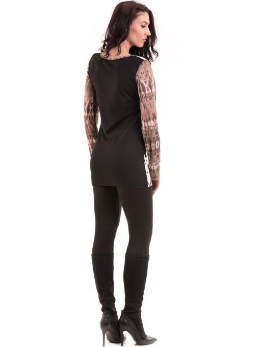 Дамска блуза с щампа LOVE COUSTUME 183 - цвят тъмно бежов E