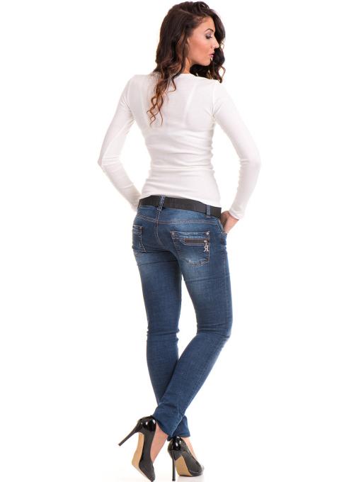 Дамска блуза MISS POEM с овално деколте 12735 - цвят екрю E