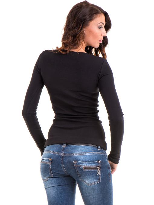 Дамска блуза MISS POEM с овално деколте 12735 - черна B