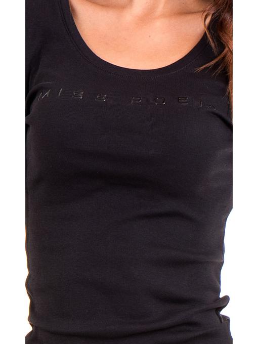 Дамска блуза MISS POEM с овално деколте 12735 - черна D