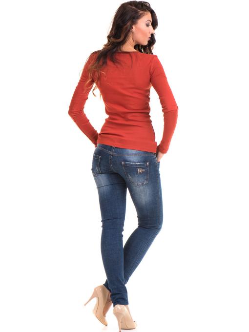Дамска блуза MISS POEM с овално деколте 12735 - керемида E