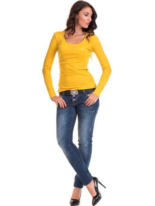 Дамска блуза втален модел 12735 - цвят горчица E