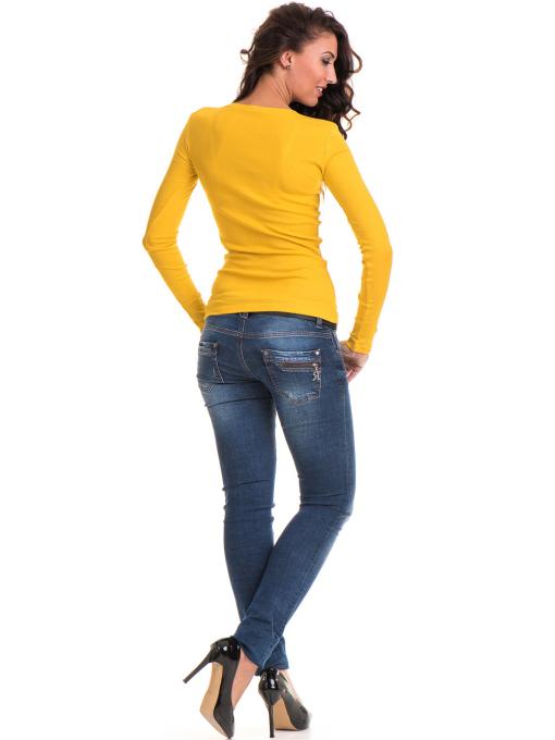 Дамска блуза втален модел 12735 - цвят горчица C