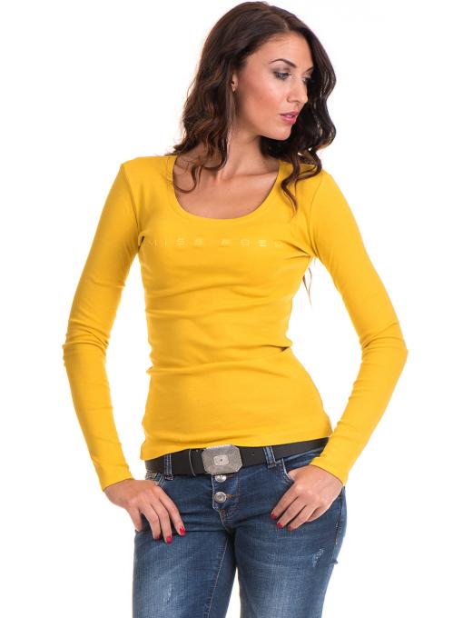 Дамска блуза втален модел 12735 - цвят горчица