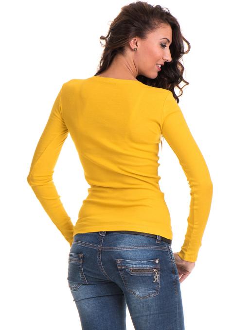 Дамска блуза втален модел 12735 - цвят горчица B