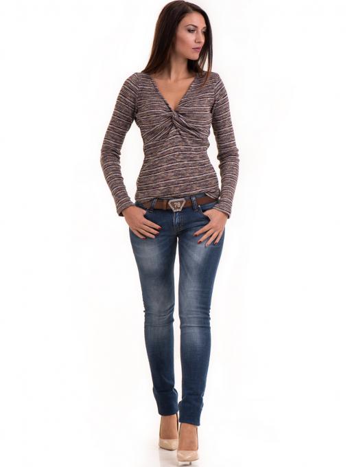 Дамска блуза MISS POEM втален модел 15478 - цвят бордо C