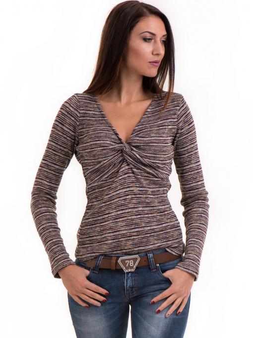 Дамска блуза MISS POEM втален модел 15478 - цвят бордо