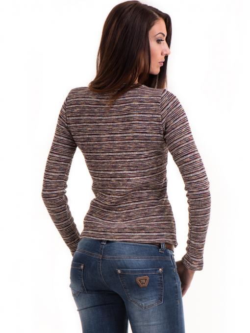 Дамска блуза MISS POEM втален модел 15478 - цвят бордо B