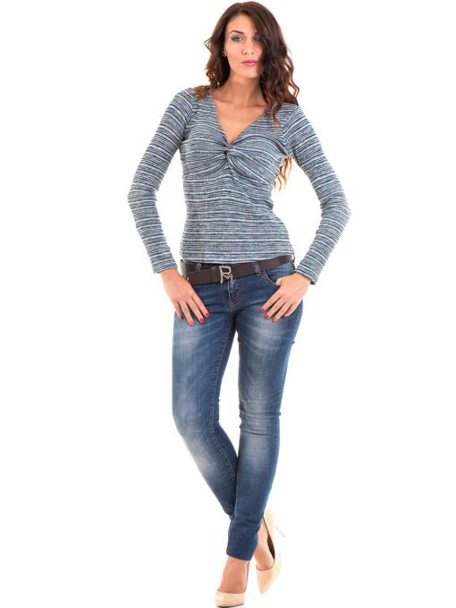 Дамска блуза MISS POEM  втален модел 15478 - тюркоаз C