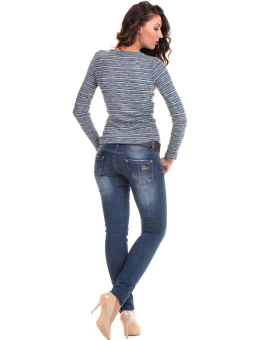 Дамска блуза MISS POEM  втален модел 15478 - тюркоаз E