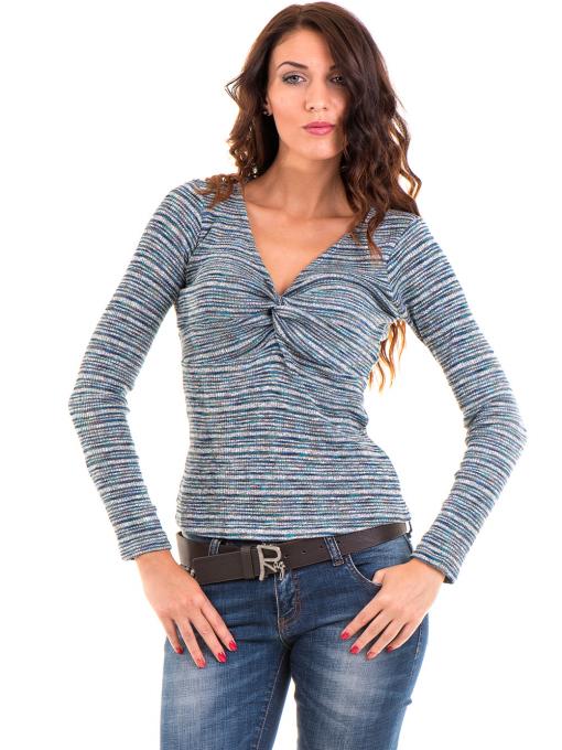 Дамска блуза MISS POEM  втален модел 15478 - тюркоаз