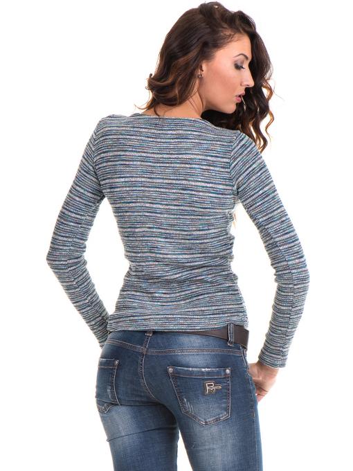 Дамска блуза MISS POEM  втален модел 15478 - тюркоаз B