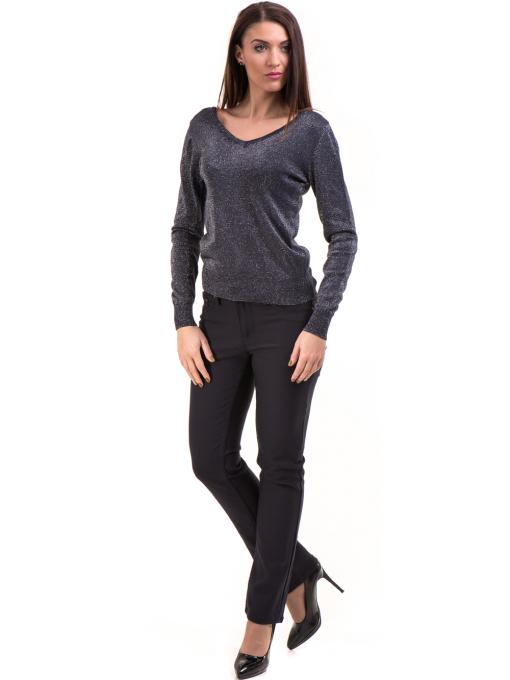 Дамски панталон LACARINO 3661- тъмно син C3