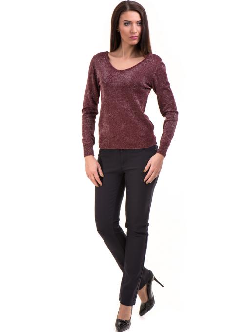 Дамски панталон LACARINO 3661- тъмно син C4