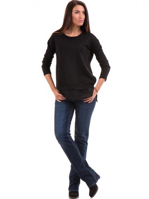 Дамска блуза STAMINA с овално деколте 094 - черна C