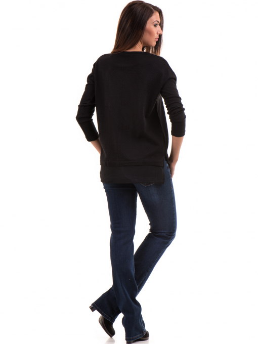 Дамска блуза STAMINA с овално деколте 094 - черна E