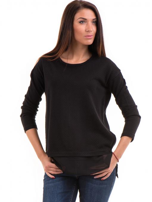 Дамска блуза STAMINA с овално деколте 094 - черна