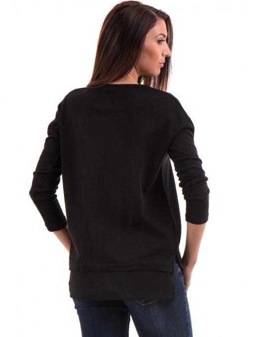 Дамска блуза STAMINA с овално деколте 094 - черна B