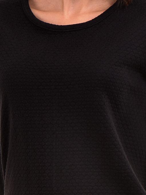Дамска блуза STAMINA с овално деколте 094 - черна D