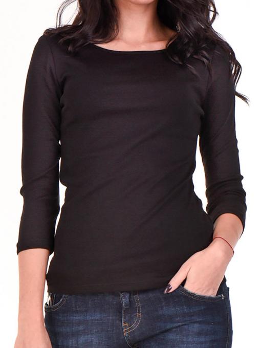 Дамска вталена блуза STAMINA 12375 - черна D
