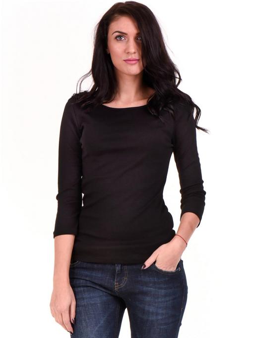 Дамска вталена блуза STAMINA 12375 - черна