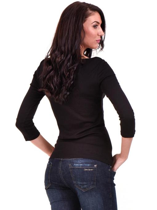 Дамска вталена блуза STAMINA 12375 - черна B