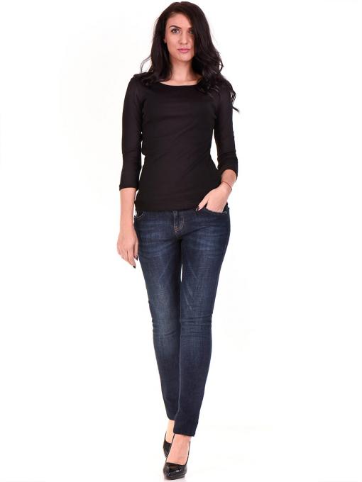 Дамска вталена блуза STAMINA 12375 - черна C