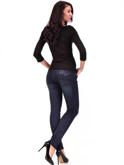 Дамска вталена блуза STAMINA 12375 - черна E