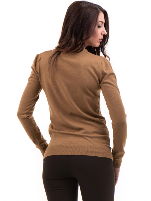 Дамска блуза STAMINA с овално деколте 1302 - тъмно бежова B