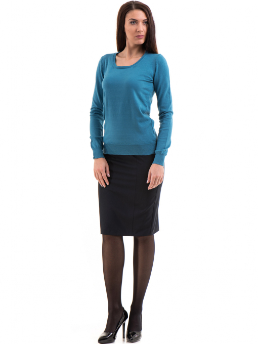 Дамска блуза  STAMINA с овално деколте 1302 -  синя C