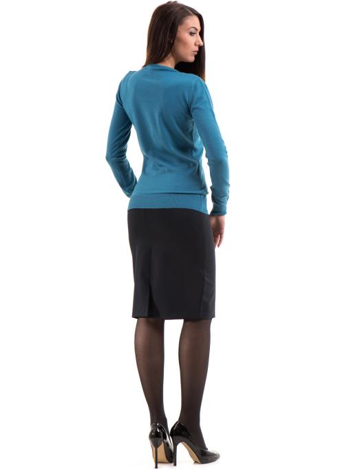 Дамска блуза  STAMINA с овално деколте 1302 -  синя E