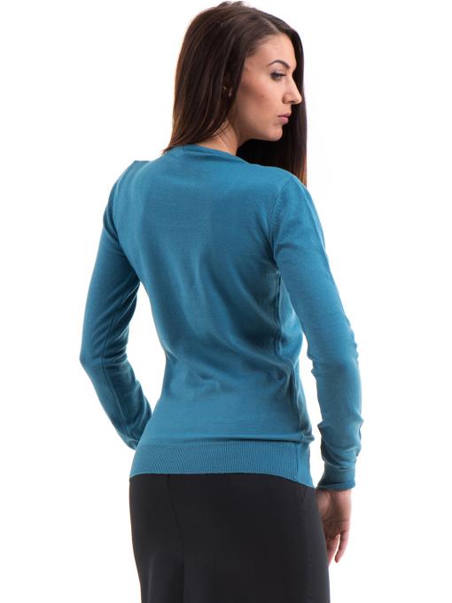 Дамска блуза  STAMINA с овално деколте 1302 -  синя B