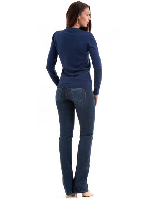 Дамска блуза STAMINA с овално деколте 1302 - тъмно синя E