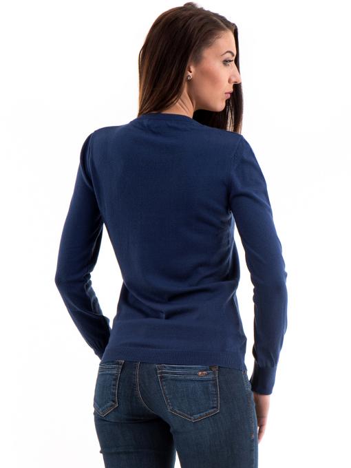 Дамска блуза STAMINA с овално деколте 1302 - тъмно синя B