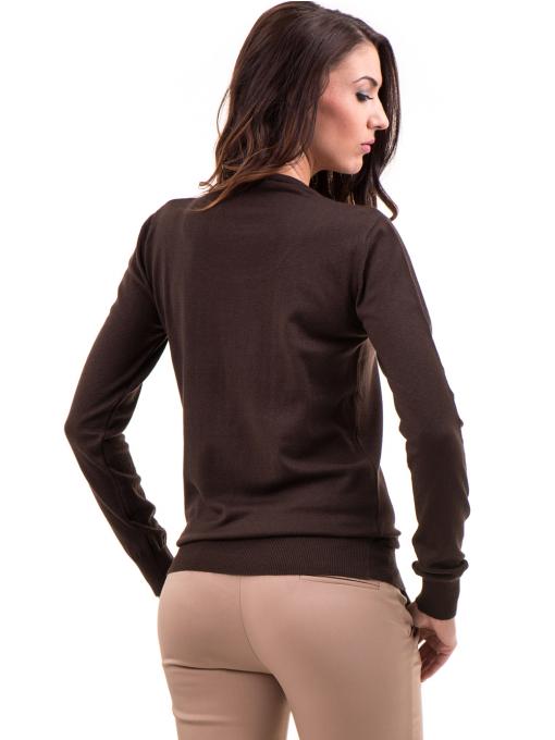 Дамска блуза STAMINA с овално деколте 1302 - кафява B
