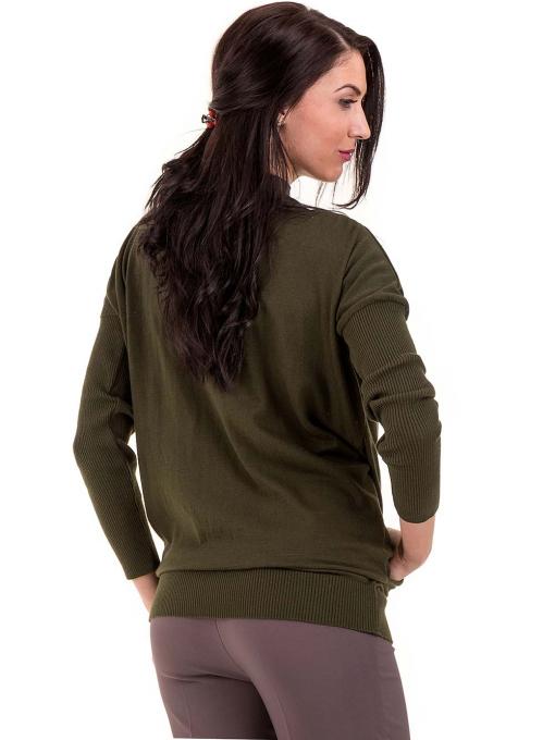 Дамска блуза от фино плетиво STAMINA 18575 - цвят каки B