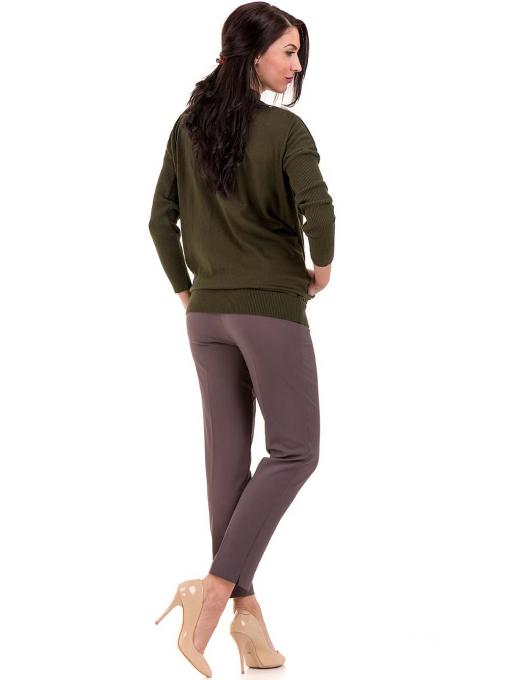 Дамска блуза от фино плетиво STAMINA 18575 - цвят каки E