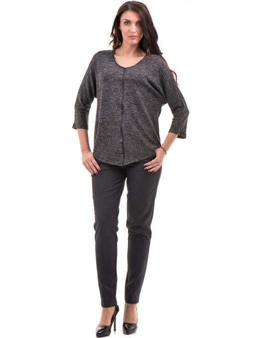 Дамски панталон F.L.M с колан 667 - антрацит C1