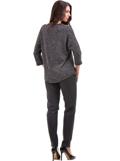 Дамска блуза свободен модел STAMINA 206 - цвят антрацит E